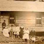 1910 at the old Phinney School located south of Clinton.  Miss Amelia ?