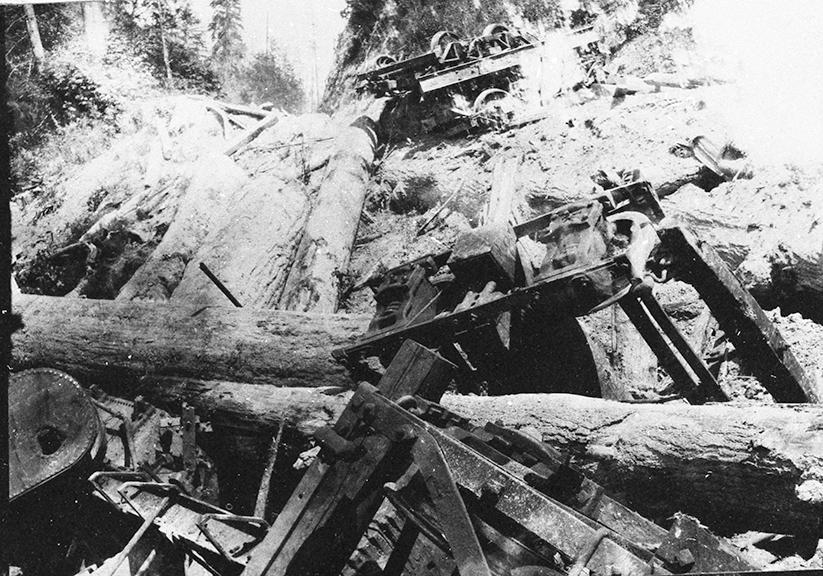 Glendale Logging RR wreck