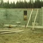 Door jambs put in place for the restroom building by Tom Permenter, Joe Putnam, and Ken Bloom.