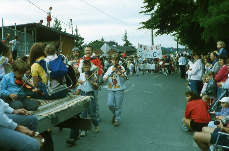 1987 4th of July parade, pool and recreation center (P.A.R.C.) Members.