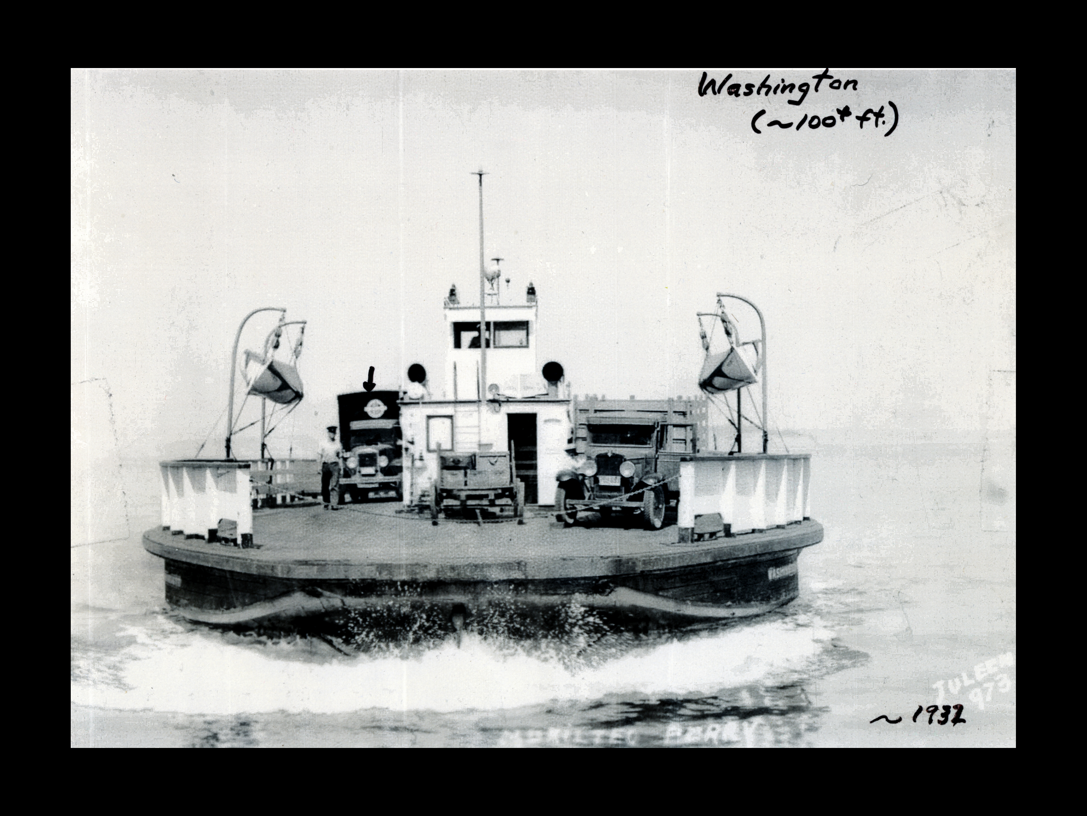 The Washington ferry boat did the run between Mukilteo and Clinton. 1932.