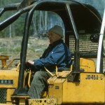 Wally Lehman donated his bulldozer.
