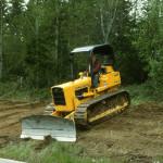 Mel Simmons and his bulldozer.