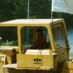 Randy Bradley and bulldozer.