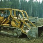 Ray Kinskie operating Art Kinskie's bulldozer.