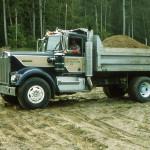 Steve Owensby driving Bob Key's dump truck.