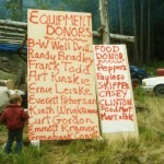 Donors who contributed to the success of one of the work parties.