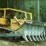 Mike Madsen on the Kamatsu bulldozer donated by Bradley Construction.