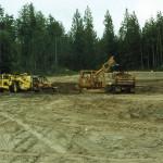 George Paris – dump truck; Pete Krogseng – bulldozer; Wally Lehman –bulldozer; Mike Madsen – turn-a-pull.