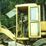 Joe Lehman operating the Bradley road grader.