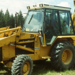 Pete Krogseng donated the use of his backhoe for hauling pea gravel for the lateral drains.