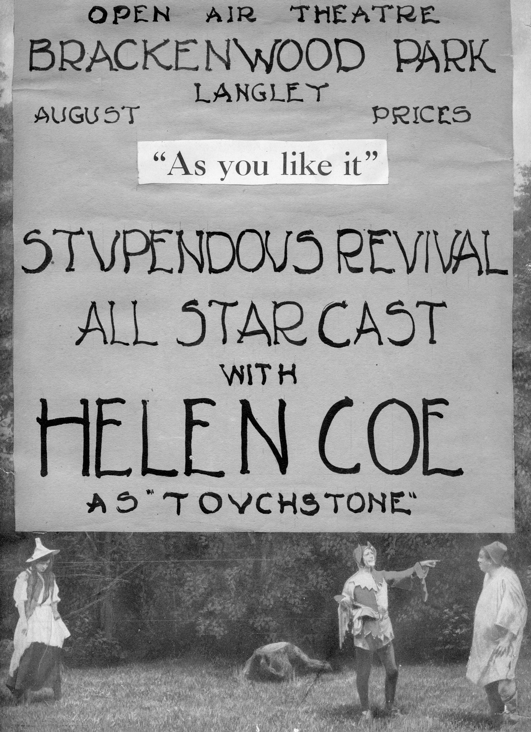 Same play, 100 years earlier