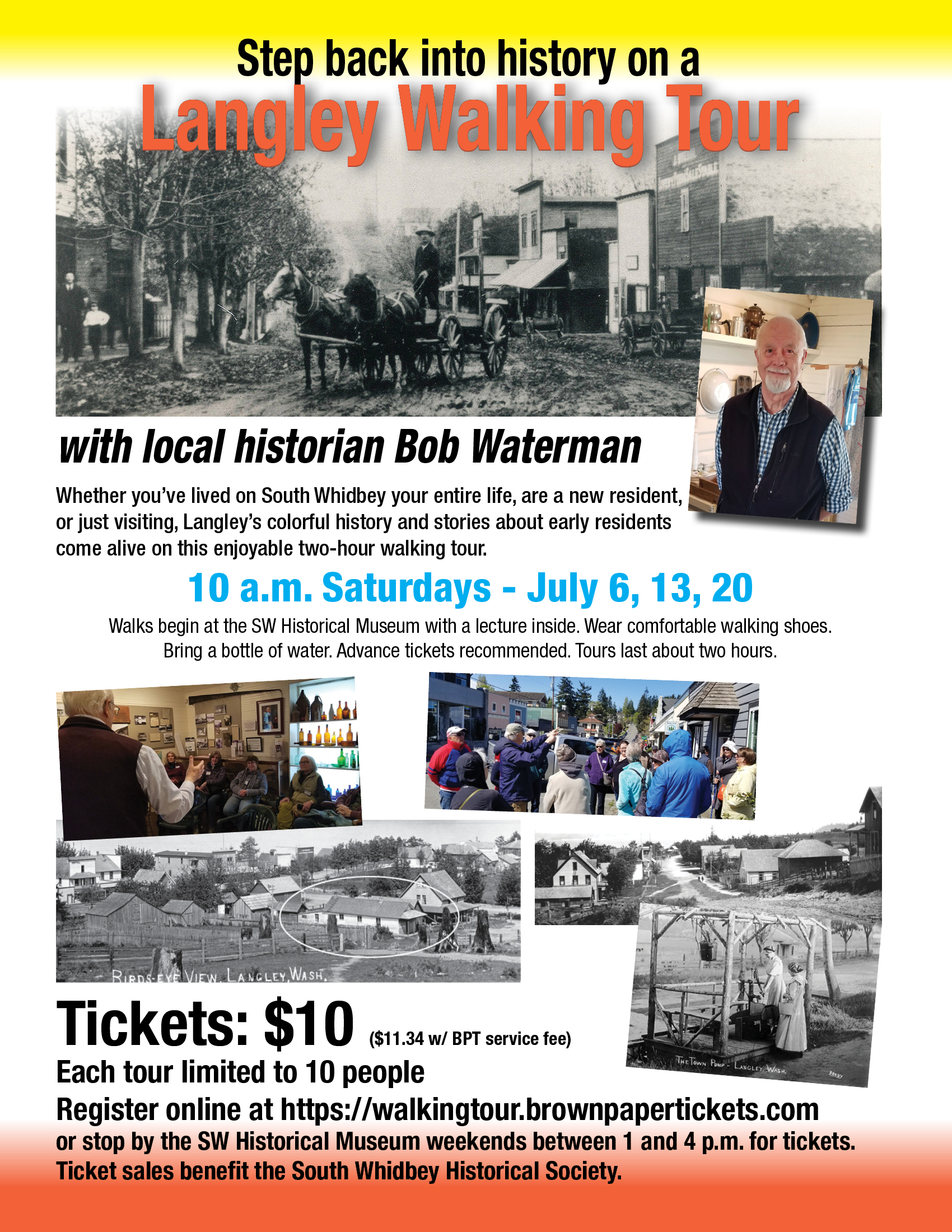 Langley Historic Walking Tours in July