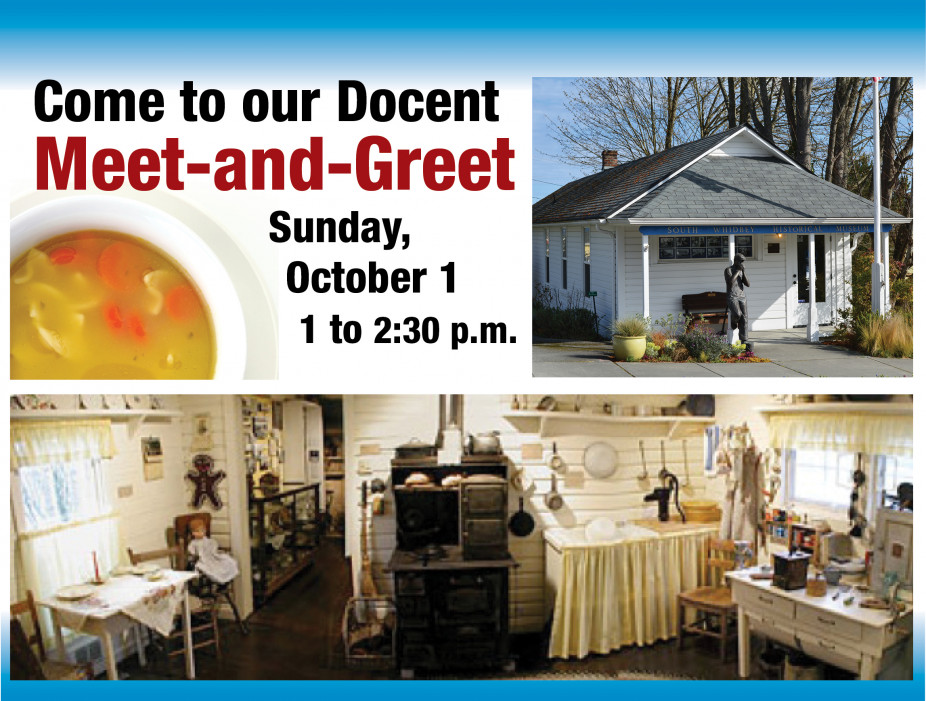 Docent Meet-and-Greet on Sunday, October 1 at the Museum